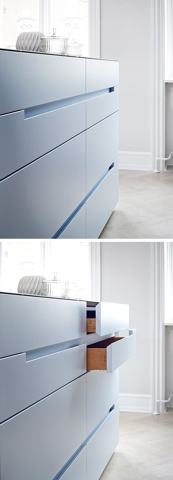 The Monolith kitchen from piqu normally uses servo-assisted drawer ...