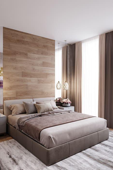 Квартира 50 кв.м. жк испанские кварталы. спальня в стиле минимализм от студия архитектуры и дизайна дарьи ельниковой минимализм | homify
