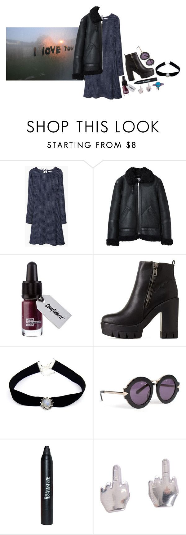 """""""TONKS"""" by lan13 ❤ liked on Polyvore featuring MANGO, Acne Studios, Charlotte Russe, Sirius and Karen Walker"""