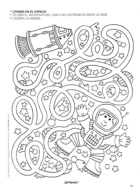 Space Worksheet For Kids Crafts And Worksheets For Preschool Toddler And Kindergarten Space Crafts Space Preschool Maze Worksheet