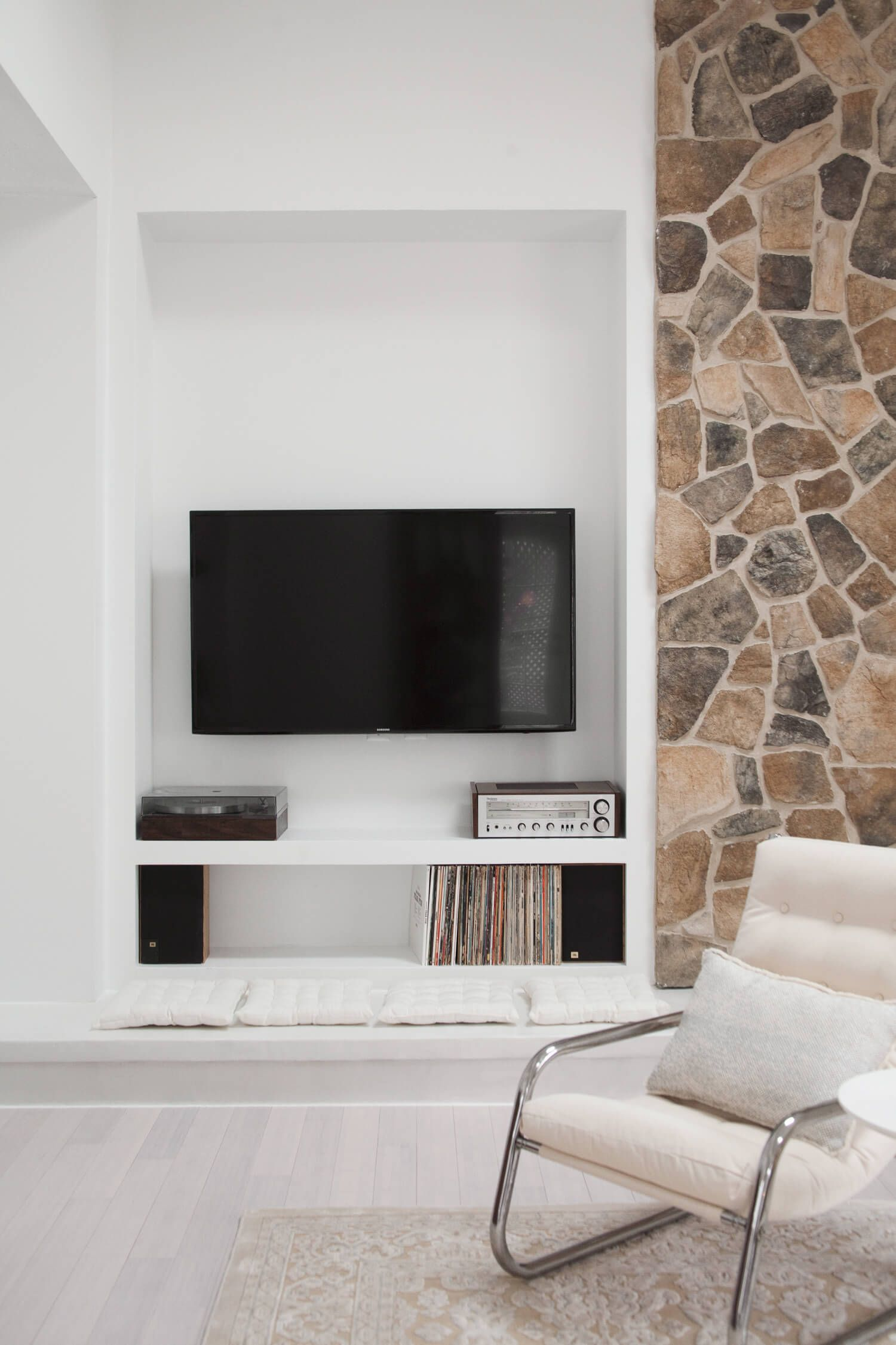 Media center makeover | living room | Pinterest | Fireplace wall ...