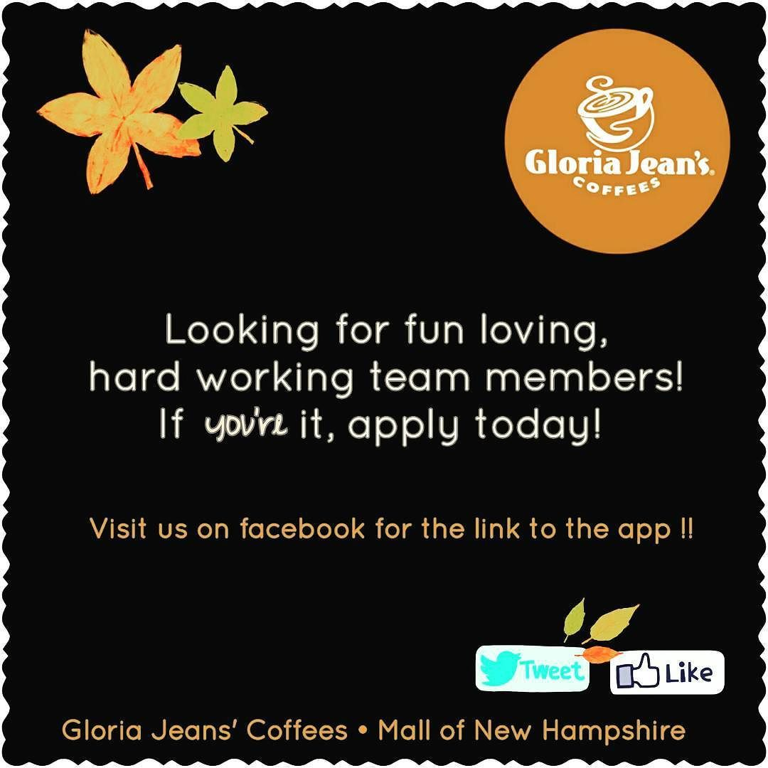 HIRING !! #gloriajeans #gloriajeanscoffee #coffeeshop #coffeeaddict #barista #hiring #manchesternh #newhampshire @shopmallofnh