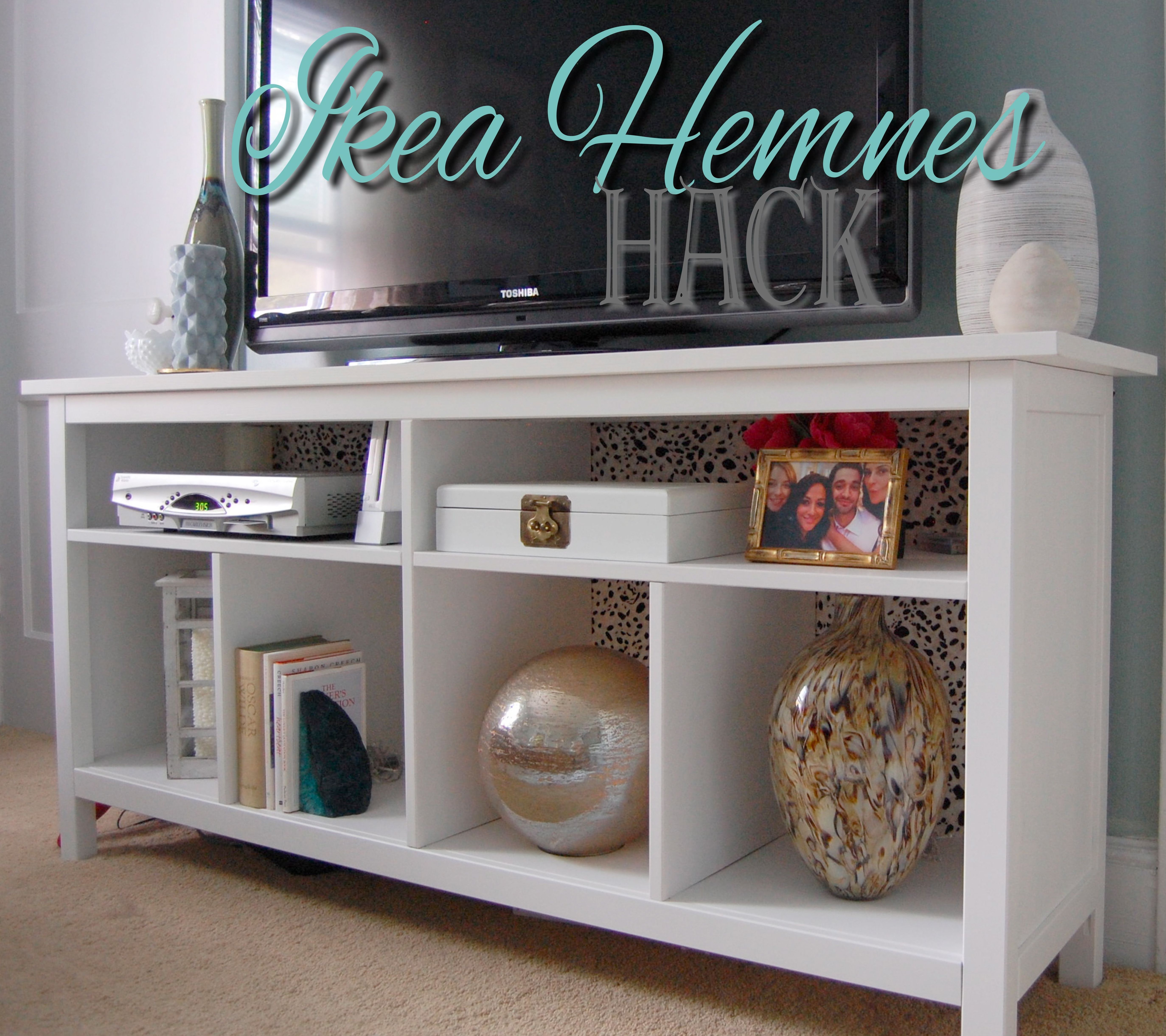 I was looking for a slim piece of furniture to use as my tv stand ikea hemnes sofa table as tv console the top shelf should have 4 dividers but she left out 2 so she would have room for dvd player geotapseo Choice Image