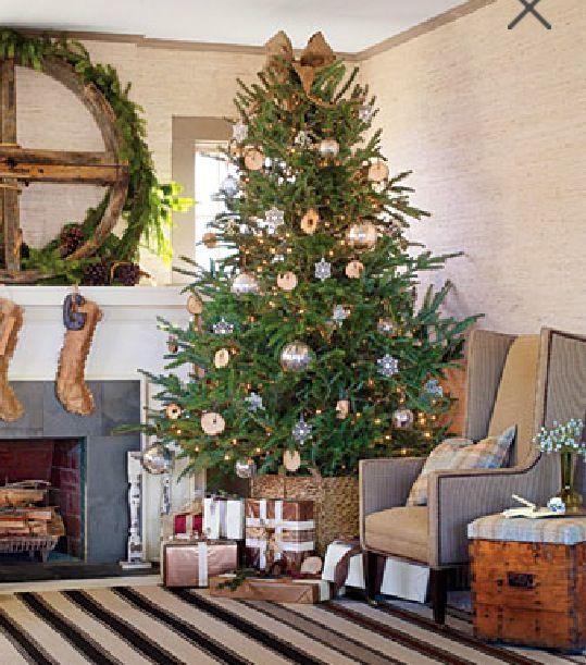 Christmas tree with basket holder Holidays Pinterest Christmas