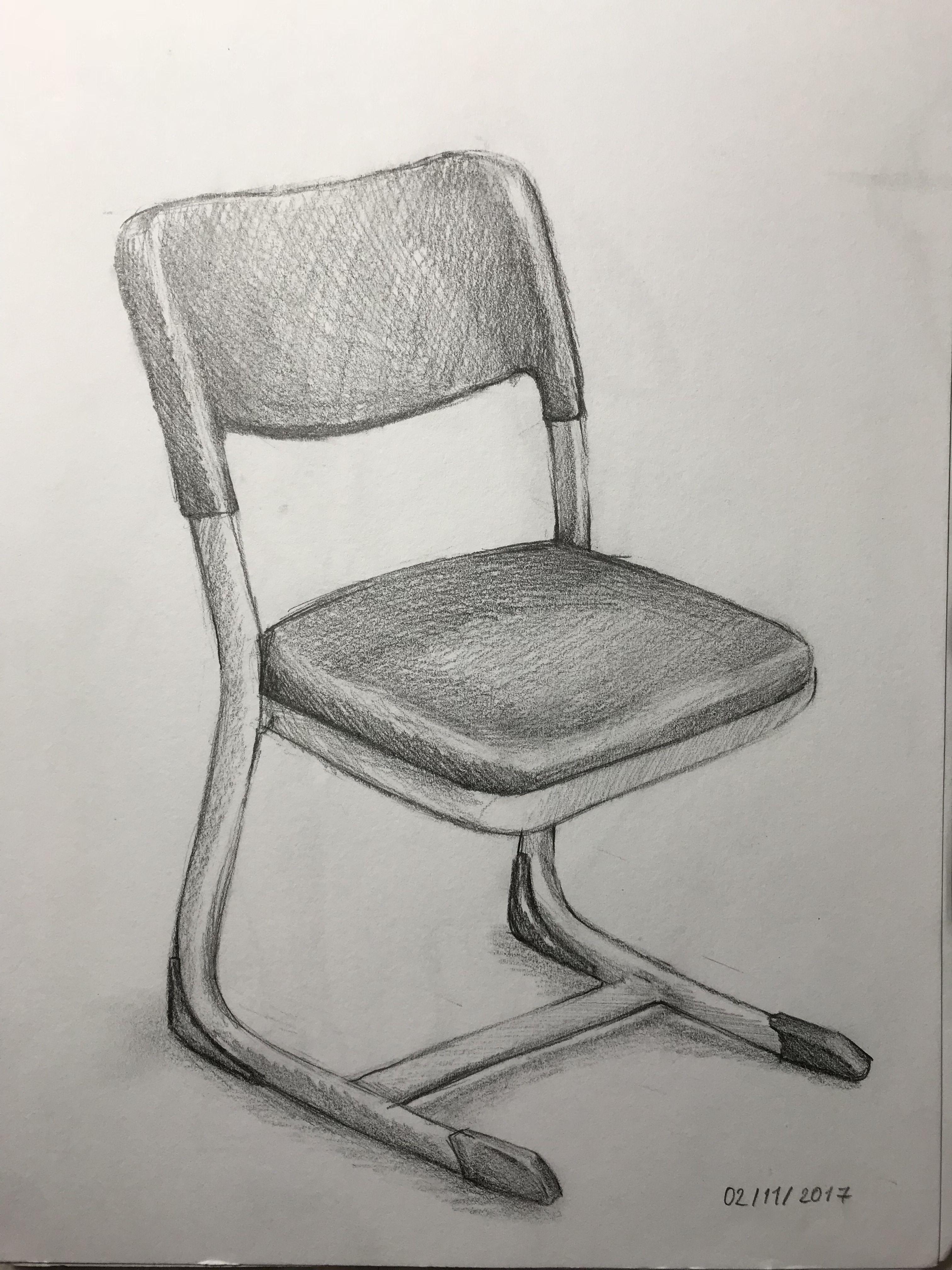 Karakalem Sandalye Cizimler Temel Sanat Karakalem Cizimler