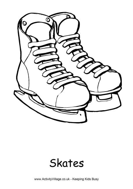 Skates Colouring Page Sports Coloring Pages Skate Winter
