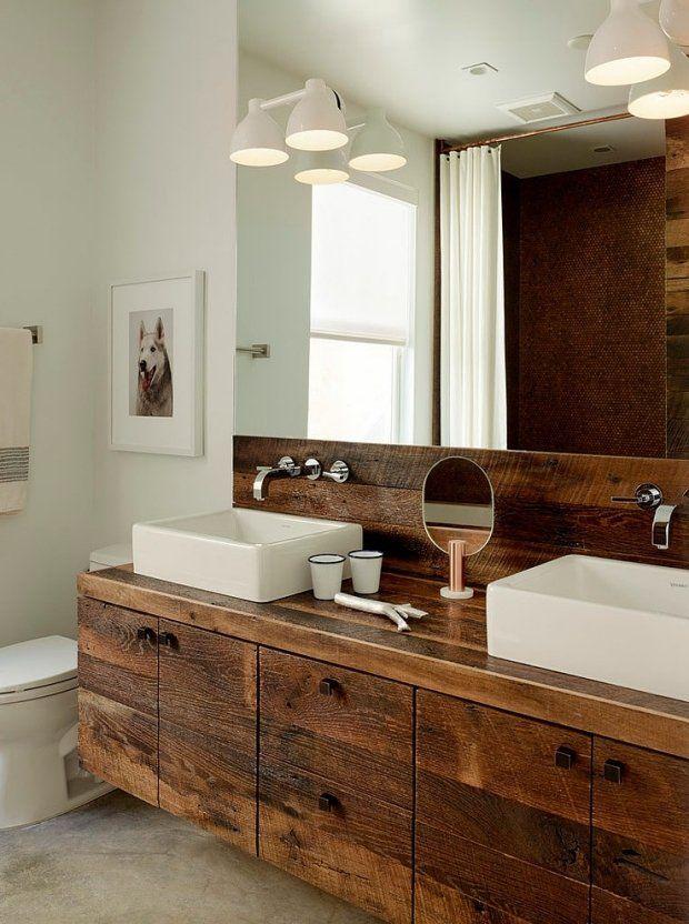 Superior Badezimmer Unterschrank Rustikal #2: Vintage Waschbeckenunterschrank Aus Recyceltem Holz Mehr