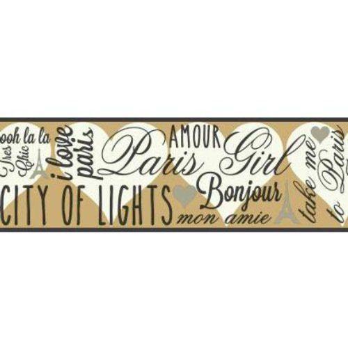 City Of Lights SB7556B Wallpaper Border