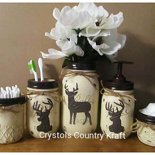 Deer Bathroom Decor, Deer Soap Pump, Deer Toothbrush Holder, Deer Country  Rustic Bathroom, Woodland Animal Decor, Hunting Cabin Decor   Brown Bathroom,  ...