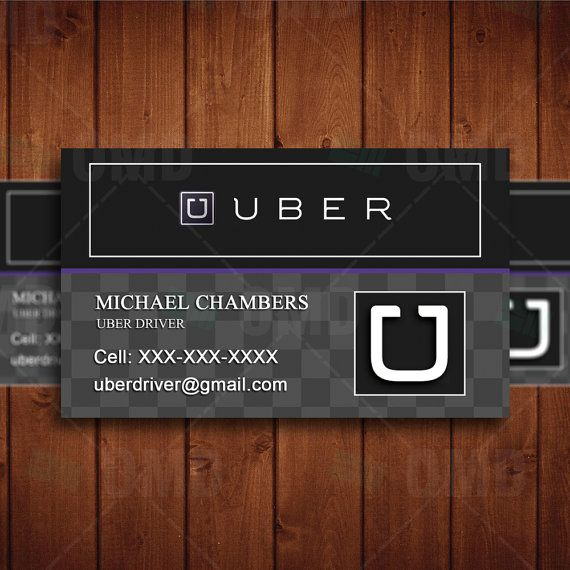 Uber Business Card Driver Marketing Uber Card Uber Business Business Card Design