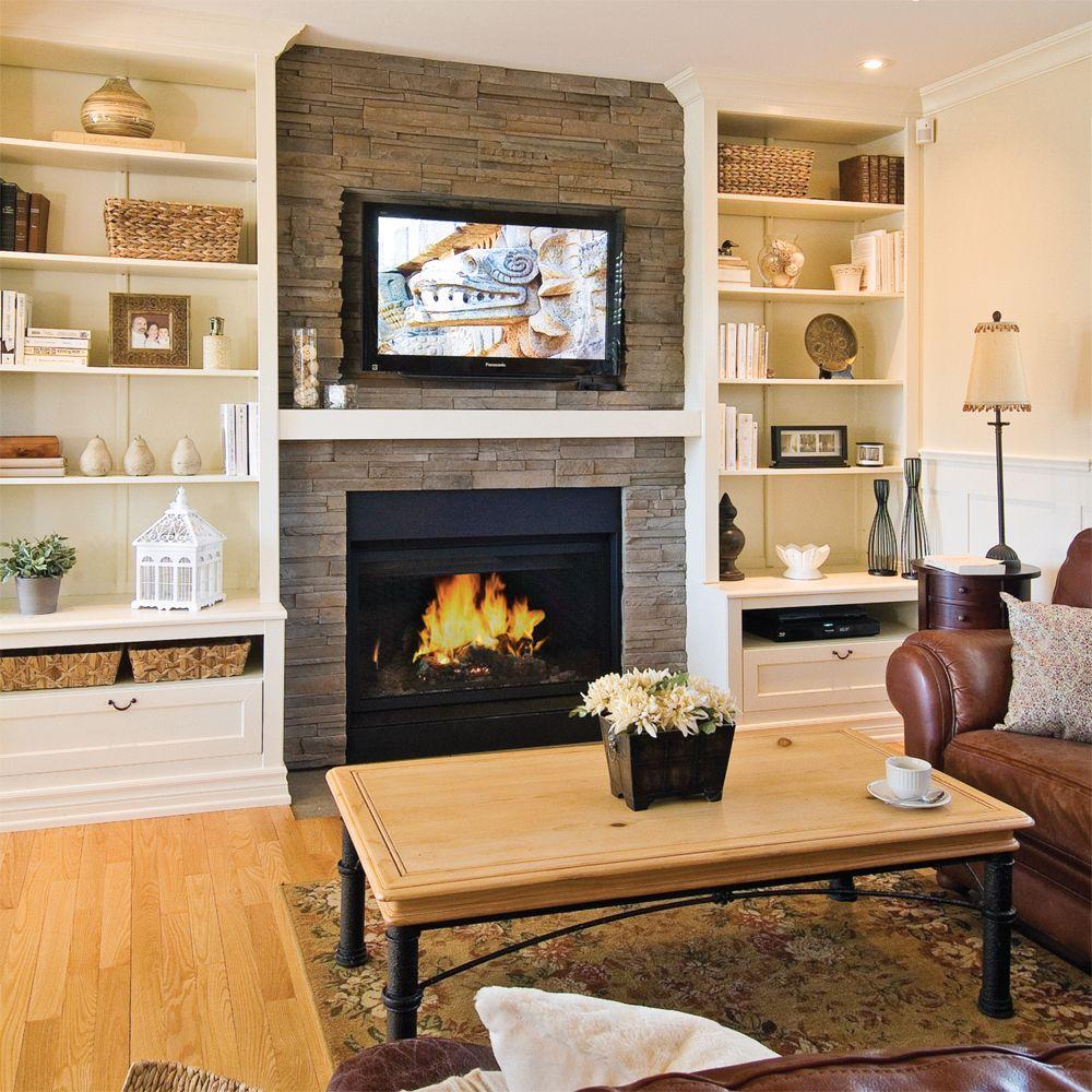 Au Lieu De Placer De Simples Meubles De Chaque C T Du Foyer L  # Mur De Brique Avec Foyer