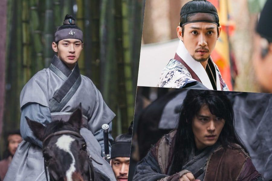 """Jang Dong Yoon, Park Sung Hoon, And More Prepare For Battle In """"Joseon Exorcist"""" Teasers"""