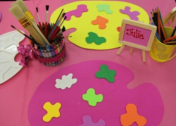Kindergeburtstag Party Idee Tischset Maler