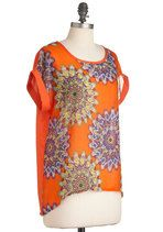 Tops - In Fine Feathers Top- cute with jeggings, purple long earrings and roman sandals