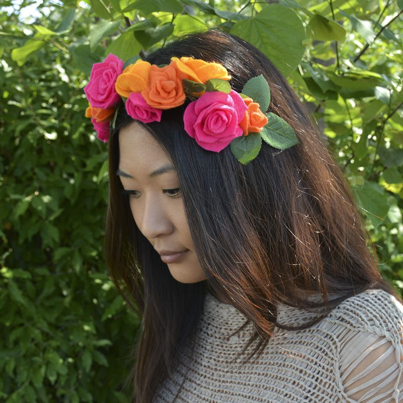 Nicole™ Crafts Felt Flower Crown