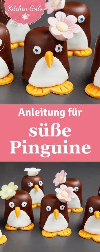 Rezept für Schokokuss-Pinguine