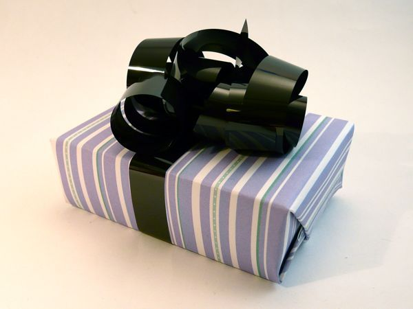 VHS tape makes excellent ribbon for gift wrap.