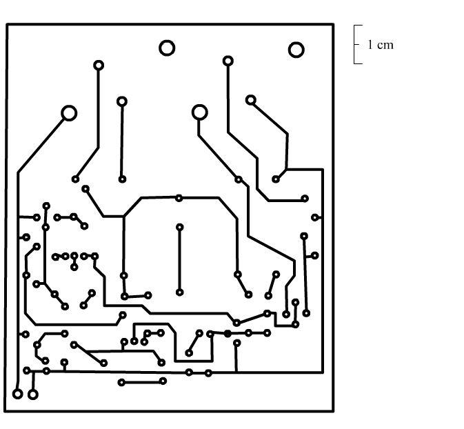 2n3055 power amplifier pcb pistas 454x420 placas para o