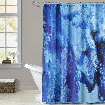 Brayden Studio Deb Mcnaughton Bubbles Single Shower Curtain In
