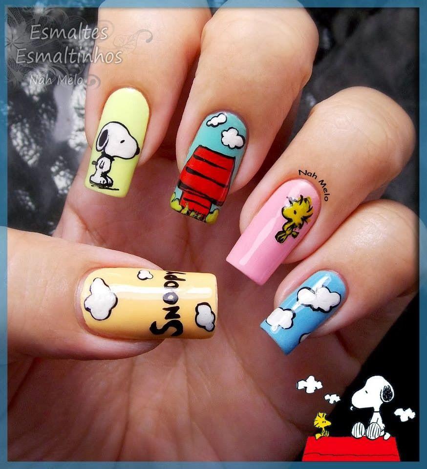 Esmaltes-Esmaltinhos: Snoopy #nail #nails #nailart - Esmaltes-Esmaltinhos: Snoopy #nail #nails #nailart Uñas