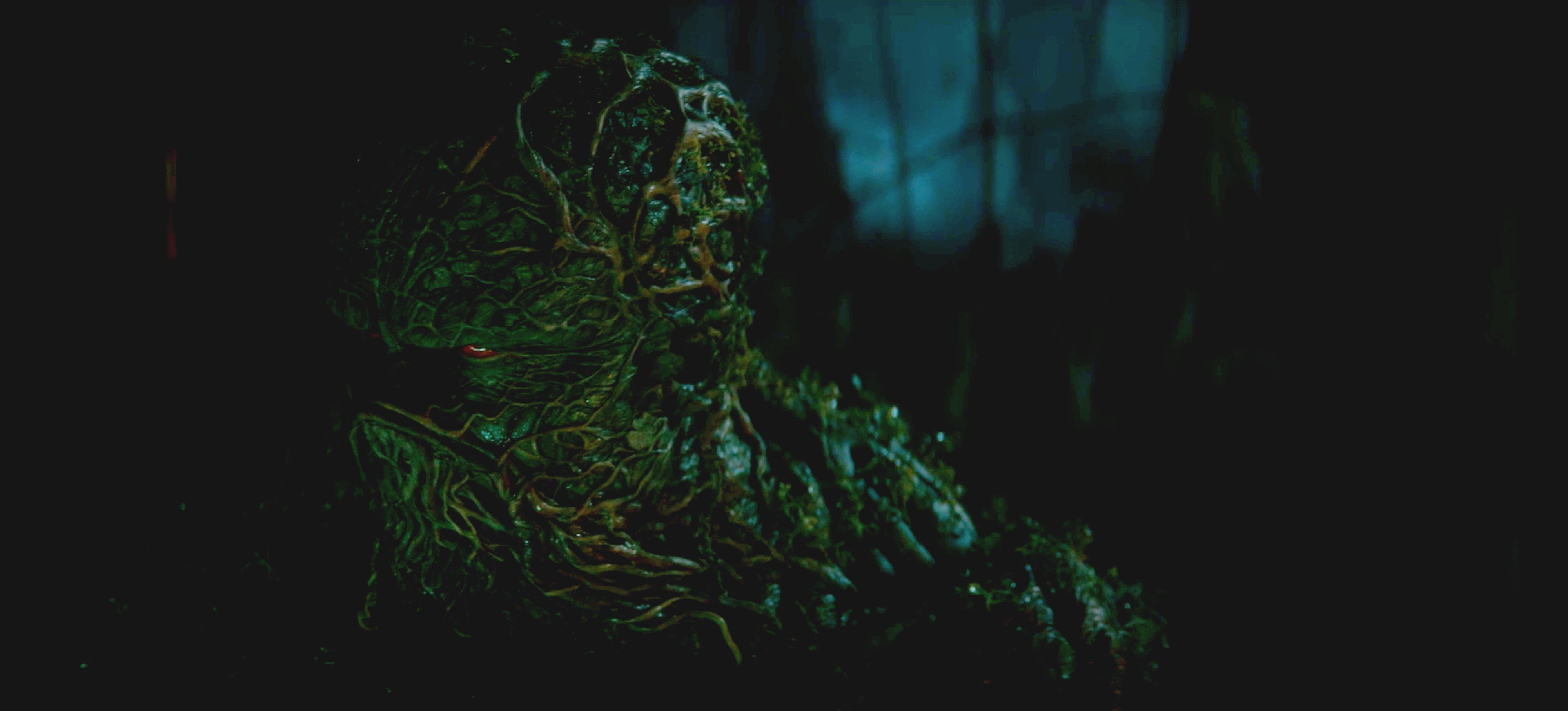 Swamp Thing searches for what his senses are telling him