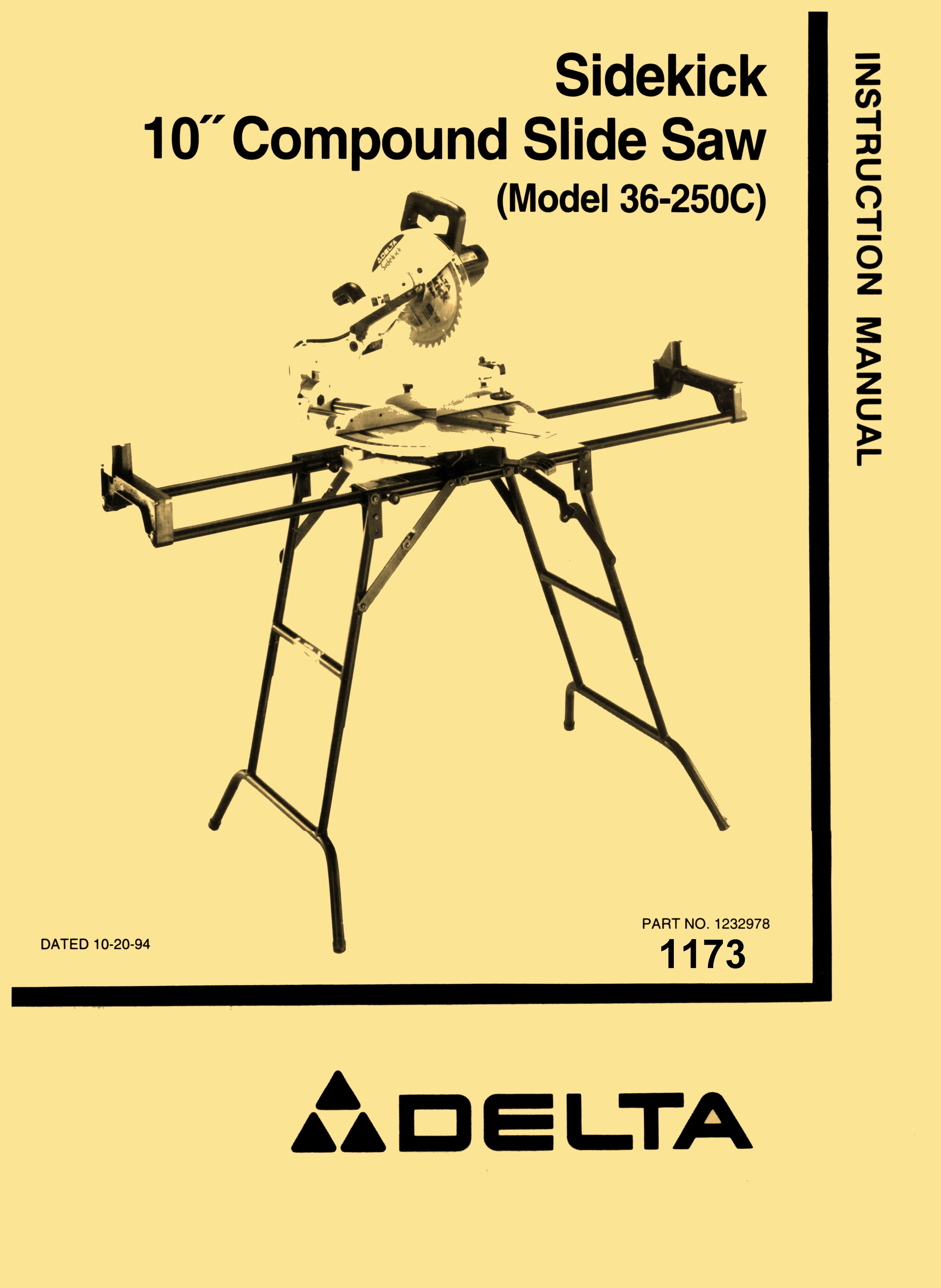 delta 36 250c 10 sidekick slide saw instructions parts manual rh pinterest com Owner's Manual Wildgame Innovations Manuals