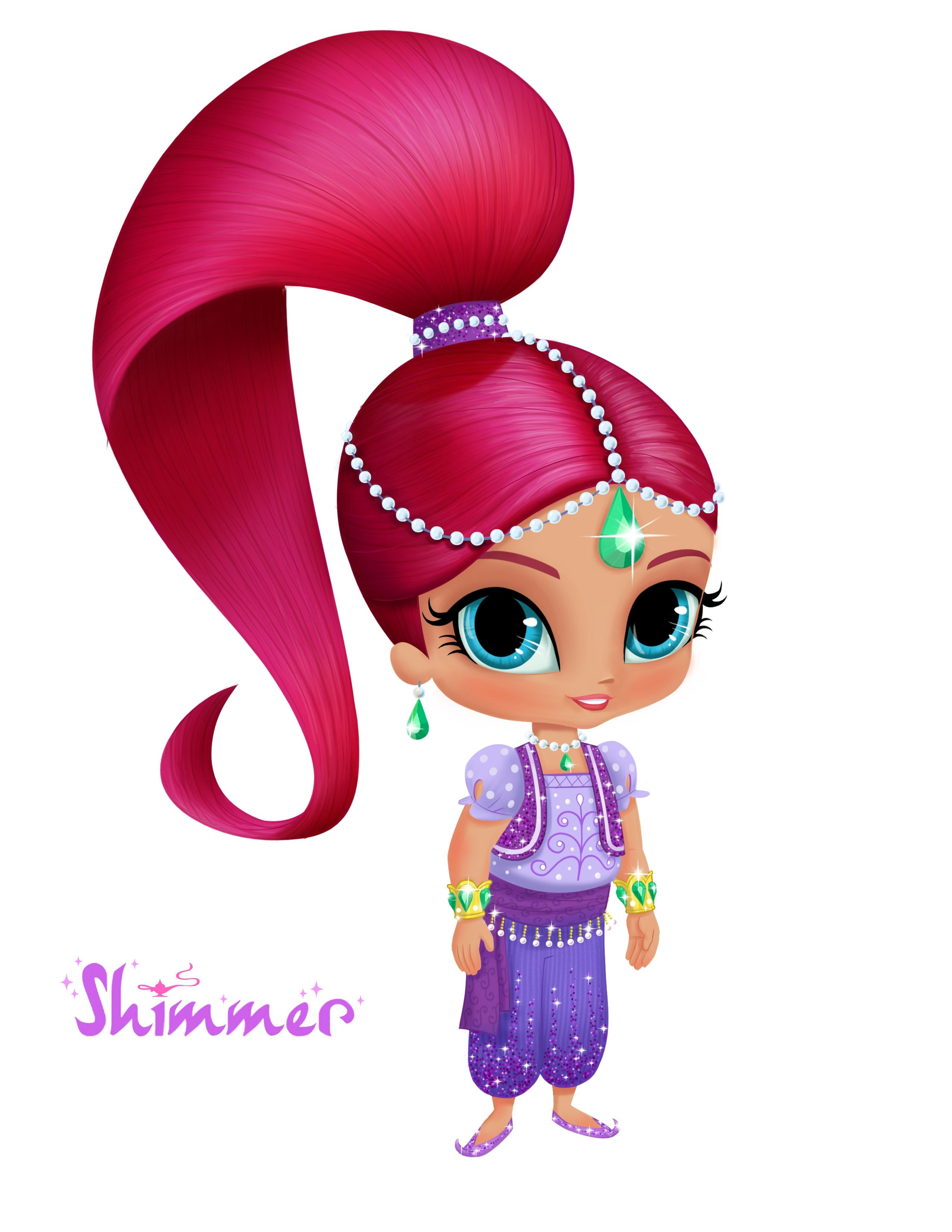 Coloring pages shimmer and shine - Shimmer And Shine