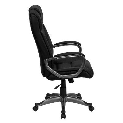 Executive Swivel Office Chair Black Leather Flash Furniture