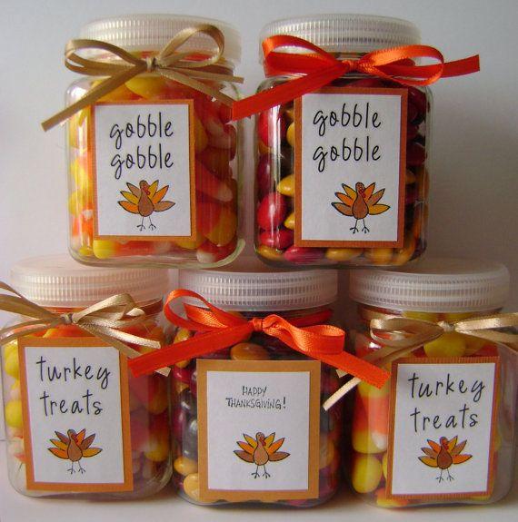 Thanksgiving mini treat jars. $2.75, via Etsy ...