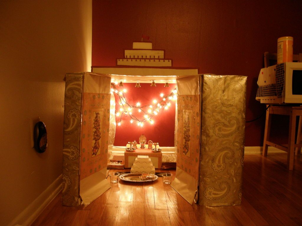 Cardboard Temple Shrine At Home Temple Room And House