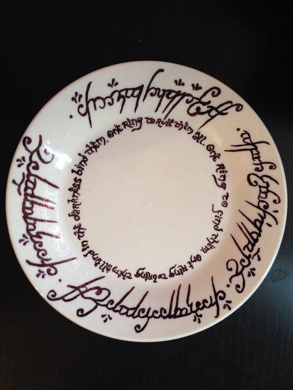 Lord Of The Rings Ring Quote May Recreate This On A Small Dish To Hold Tea Bags After They've .