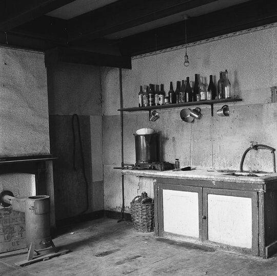 The kitchen inside the Secret Annex in Amsterdam in 1954