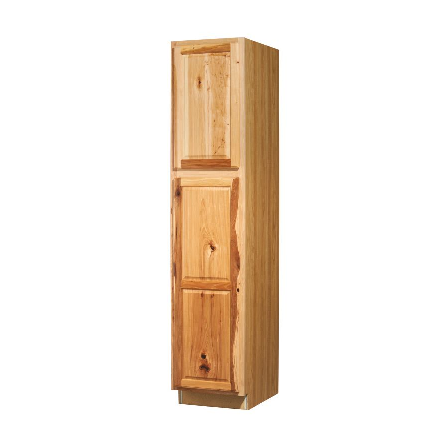 Shop Kitchen Classics Denver 18 In W X 84 In H X 23 75 In D Hickory Door Pantry Cabinet At Lowes C Pantry Cabinet Kitchen Wall Cabinets Kitchen Pantry Cabinets