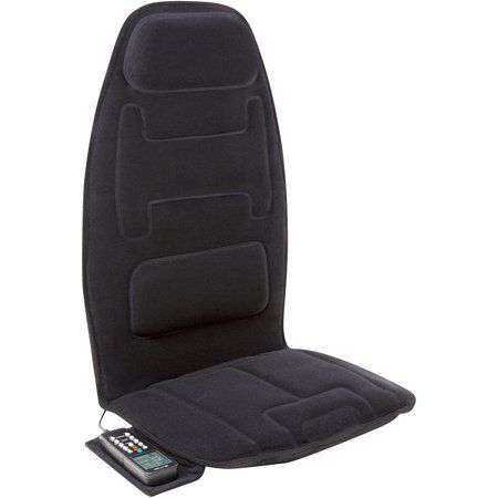 Relaxzen 60 2910p Massage Seat Cushion Black In 2020 Car Seat Cushion Modern Throw Pillows Seat Cushions