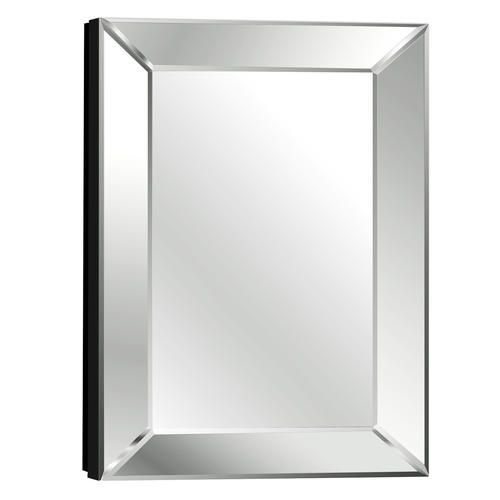 Pace 18 mitered beveled mirror medicine cabinet 18 w x - Bathroom mirrors and medicine cabinets ...