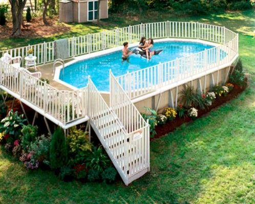 Oval Shaped Swimming Pools: Way Above Ground Oval Pool