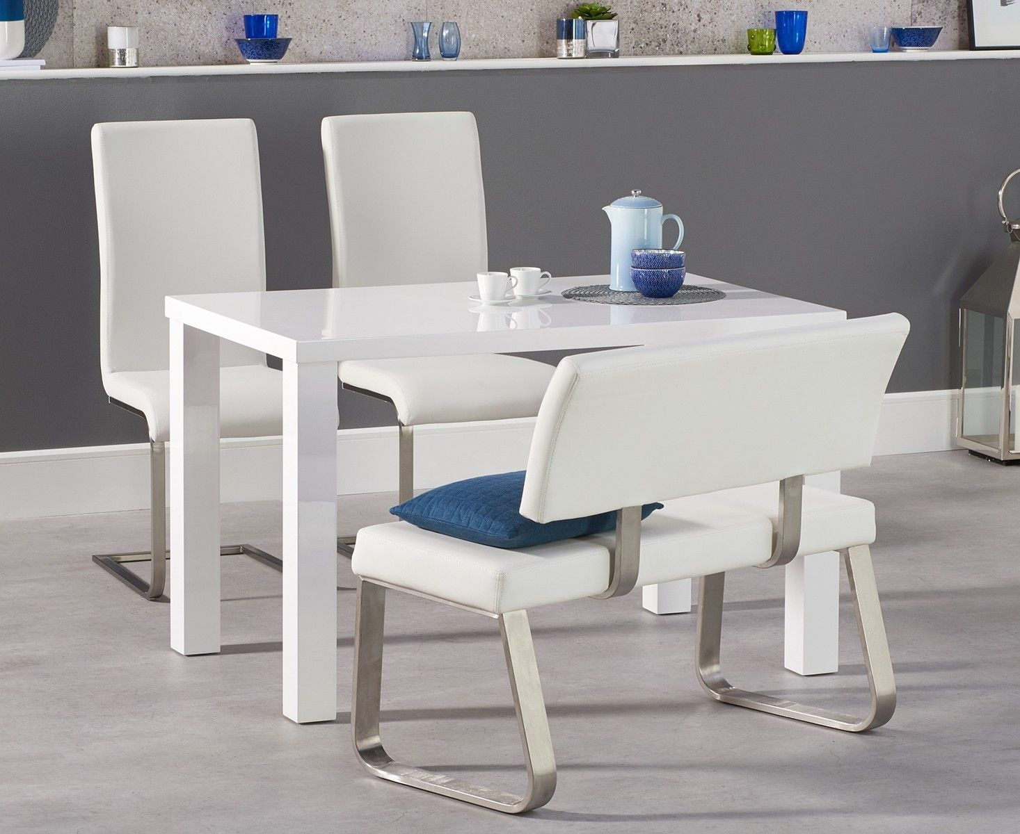 40+ White gloss dining table and bench Inspiration