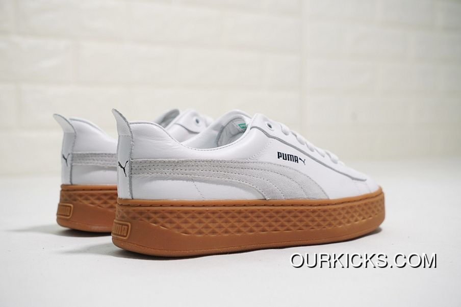 606b4dc9522 All FULL GRAIN LEATHER Is Super Soft LEATHER LINING Puma Smash Platform SD  Scrap Gold Series Flatform Shoes All 4-match Women God Sneakers White  PiSheng ...