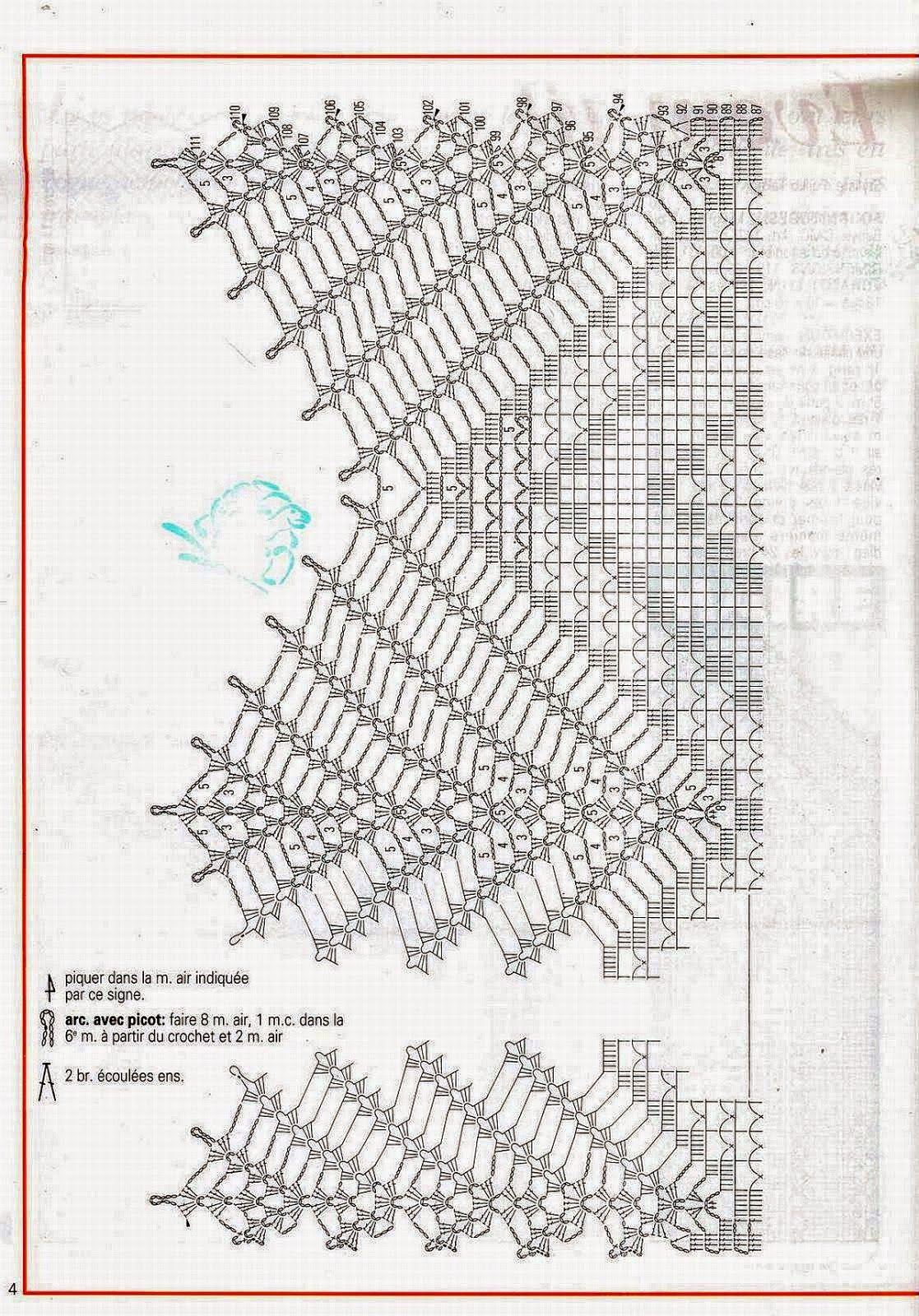 Cortina tejida al crochet - con diagrama y patrones | Crochet y Dos ...