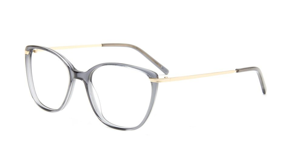 02462b8024 Affordable Fashion Glasses Cat Eye Rectangle Eyeglasses Women Illusion Gold  Shadow Tilt