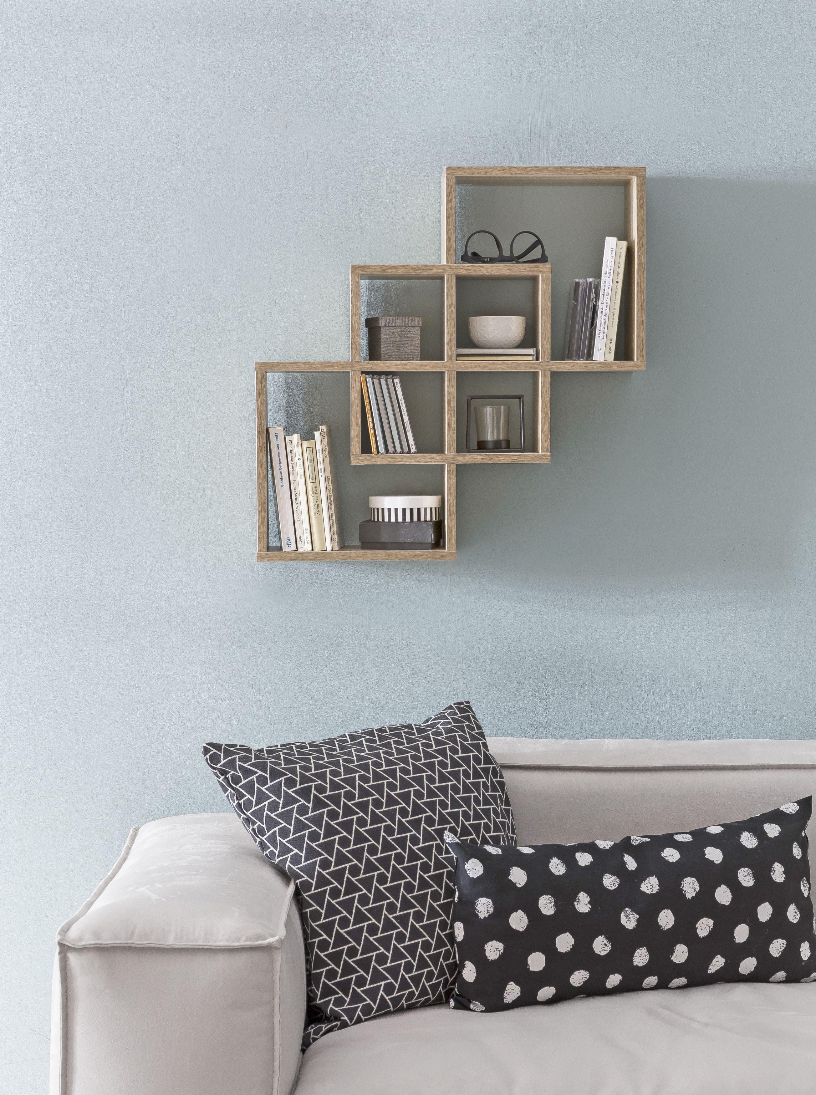 Hängeregal Wand Regal E Schwebend Quadrat Deko Wall Shelf