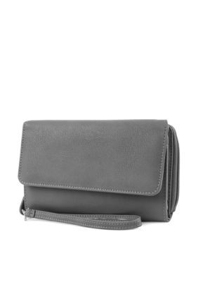 Mundi Women's Rfid Better Than Leather Big Fat Wallet - Gray - One Size