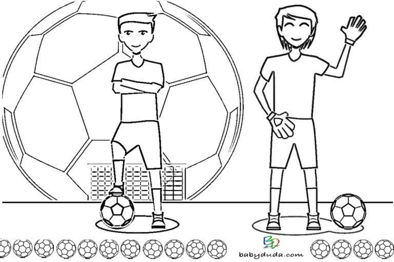 Fussball Ausmalbilder Spielfeld Ball Fussballfieber