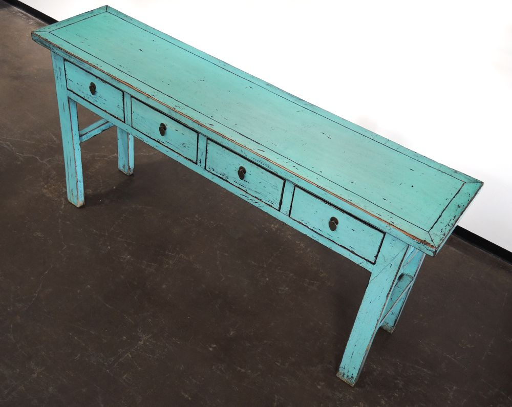 Turquoise Console Entry Hallway Sofa Table With Drawers Altar Console Table Sofa Table With Drawers Table