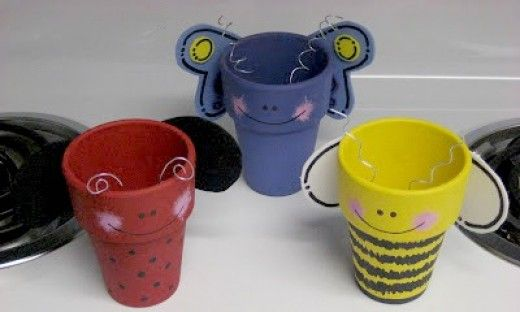 Making clay pot crafts or terra cotta crafts for kids, teens, adults and seniors…