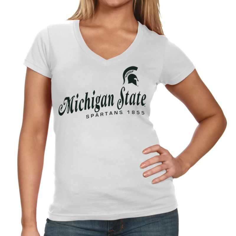 8ab4096f Michigan State Spartans Women's Victory Parade Slim Fit V-Neck T ...