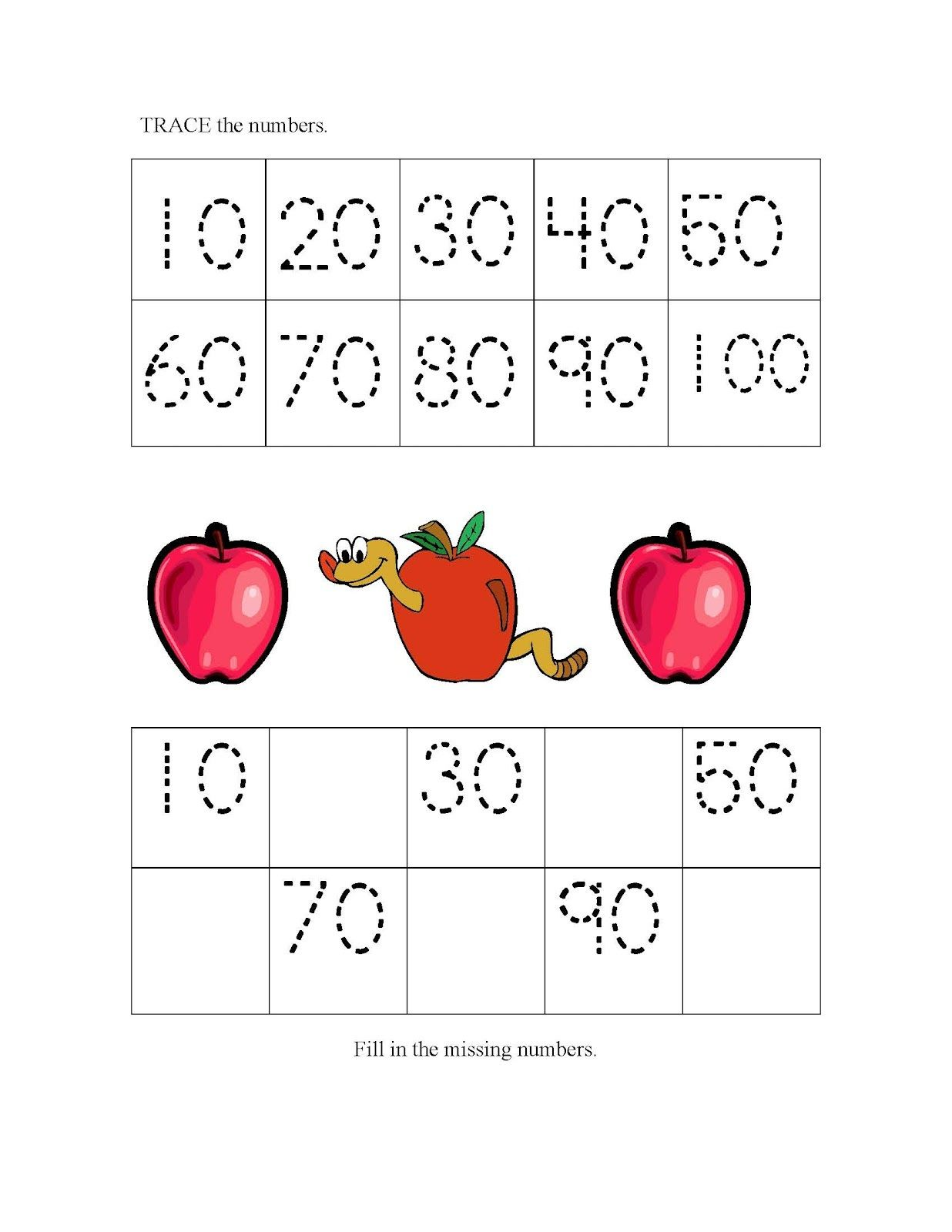 Count by 10s Tracing Worksheets Activity Shelter – Counting by 10 Worksheets for Kindergarten