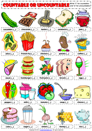 Countables And Uncountables Esl Printable Worksheets And Exercises Nouns Esl English Vocabulary Uncountable Nouns