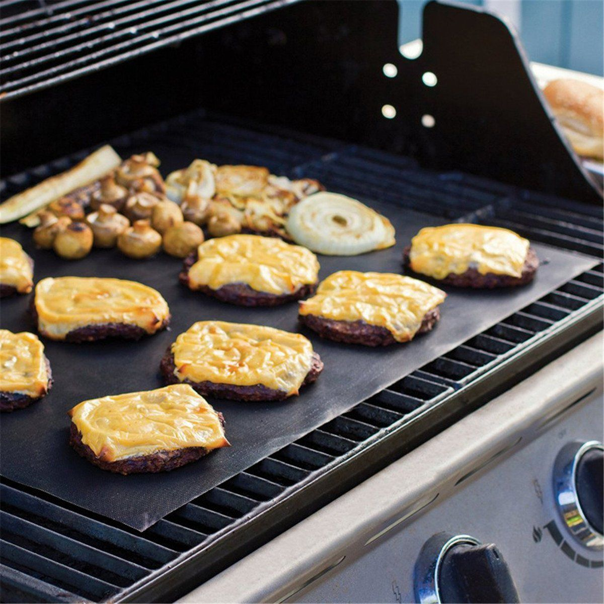 Nbody Grill Mat Reusable Nonstick Bbq Pad For Gas Charcoal And