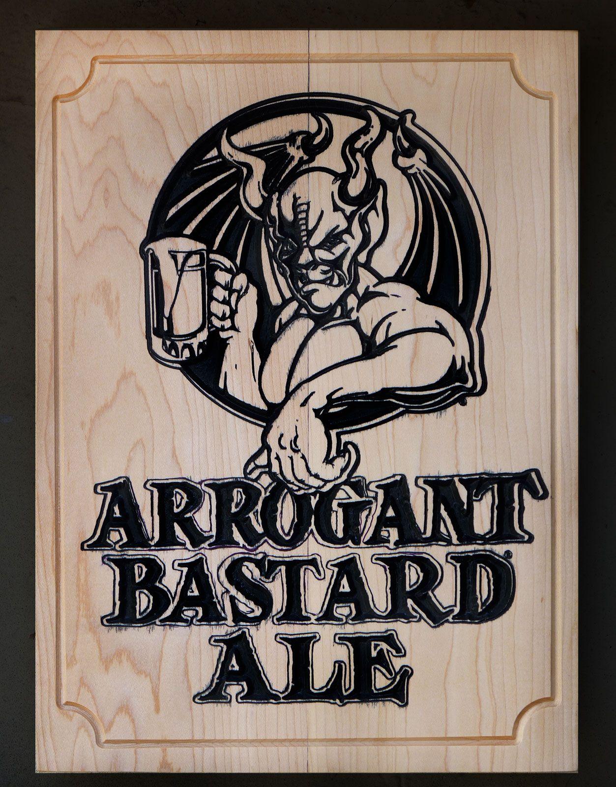 Arrogant Bastard Incisione su legno di acero